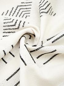 Hamamtuch Akira, Rückseite: Frottee, Weiß, Schwarz, 100 x 180 cm