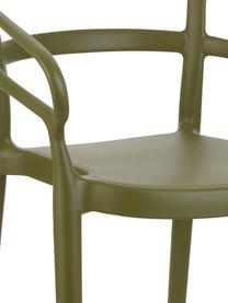Kunststoffen armstoelen Rodi, 2 stuks, Polypropyleen, Groen, B 52 x D 57 cm