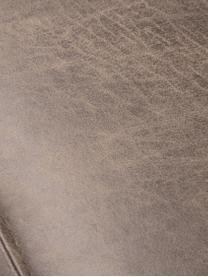 Divano 3 posti in pelle color cognac Abigail, Rivestimento: fibra di cuoio (70% pelle, Piedini: acciaio, verniciato, Pelle cognac, Larg. 230 x Prof. 95 cm