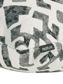 Gemusterte Ethno Kissenhülle Elani in Washed Optik, 65%Polyester, 25%Viskose, 10%Leinen, Creme, Schwarz, 50 x 50 cm