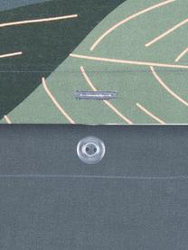 Parure copripiumino reversibile in raso di cotone Flora, Tessuto: raso Densità del filo 210, Fronte: multicolore Retro: grigio scuro, 255 x 200 cm