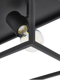 Lampada da soffitto industriale Silentina, Nero, Larg. 36 x Alt. 18 cm