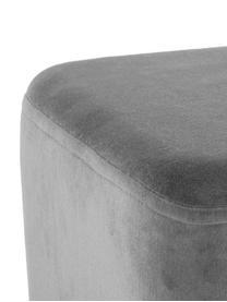 Banquette en velours Harper, Revêtement: gris foncé Pieds: couleur dorée, mat