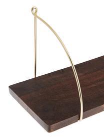Mangoholz-Wandregal Porter, Regalboden: Massives Mangoholz, lacki, Mangoholz,, Goldfarben, 60 x 24 cm