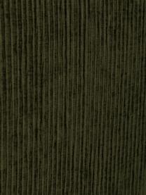 Letto Boxspring in velluto a coste verde scuro con contenitore Eliza, Materasso: nucleo a 5 zone di molle , Piedini: legno di betulla massicci, Velluto verde scuro, 200 x 200 cm