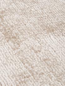 Tappeto rotondo in viscosa beige tessuto a mano Jane, Retro: 100% cotone, Beige, Ø 150 cm (taglia M)