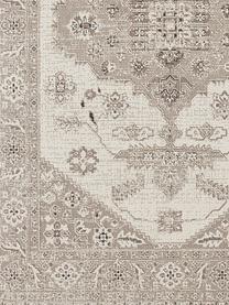 In- & Outdoor-Teppich Navarino mit Vintagemuster, 100% Polypropylen, Cremeweiß, Taupe, B 120 x L 170 cm (Größe S)