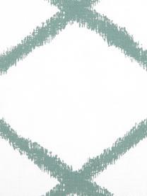 Kissenhülle Laila mit Rautenmuster, 100% Baumwolle, Weiß, Salbeigrün, 45 x 45 cm