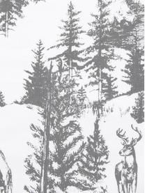 Poszewka na poduszkę Nordic, Bawełna, Ciemny szary, biały, S 40 x D 40 cm