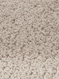 Okrągły puszysty dywan z wysokim stosem Leighton, Beżowo-brązowy, Ø 200 cm (Rozmiar L)