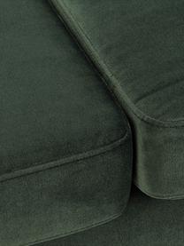 Szezlong z aksamitu z nogami z drewna bukowego Alva, Tapicerka: aksamit (wysokiej jakości, Nogi: lite drewno bukowe, barwi, Aksamitny oliwkowy, S 193 x G 94 cm