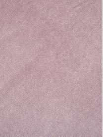 Effen fluwelen kussenhoes Dana in oudroze, 100% katoen fluweel, Oudroze, 30 x 50 cm