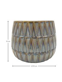 Obal na kvetináč z keramiky Nomad, Hnedá, modrá