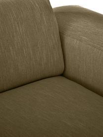 Bank Melva (2-zits) in olijfgroen, Bekleding: 100% polyester, Frame: massief grenenhout, FSC-g, Poten: kunststof, Geweven stof olijfgroen, 198 x 101 cm