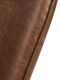 Poltrona in similpelle marrone Bon, Rivestimento: similpelle (64% poliureta, Piedini: metallo verniciato, Rivestimento: marrone, strutturato Piedini: nero, Larg. 80 x Alt. 76 cm