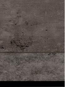 Tavolino da salotto effetto cemento Ellis, Piano d'appoggio: struttura a nido d'ape le, Rivestimento: fibra di media densità, Struttura: metallo verniciato, Nero, effetto cemento, Larg. 75 x Alt. 38 cm