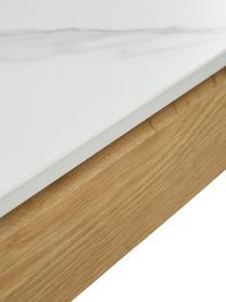 Esstisch Jackson mit Keramikplatte in Marmor-Optik, Tischplatte: Keramikstein in Marmor-Op, Weiß in Marmor-Optik, B 180 x T 90 cm