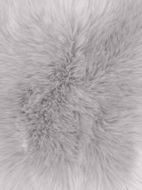 Flauschige Kunstfell-Kissenhülle Mathilde in Hellgrau, glatt, Vorderseite: 67% Akryl, 33% Polyester, Rückseite: 100% Polyester, Hellgrau, 30 x 50 cm