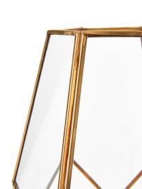 Świecznik Peter, Mosiądz, szkło, Transparentny, miedź, W 33 cm