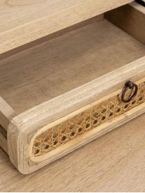 Scrivania in legno con cassetti Nalu, Maniglie: metallo verniciato, Legno Mindi, Larg. 110 x Prof. 60 cm
