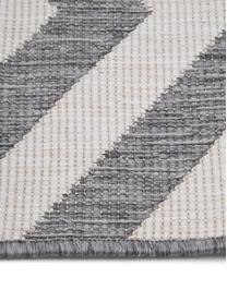 Dubbelzijdig in- & outdoor vloerkleed Palma, met zigzag patroon, Grijs, crèmekleurig, B 200 x L 290 cm (maat L)