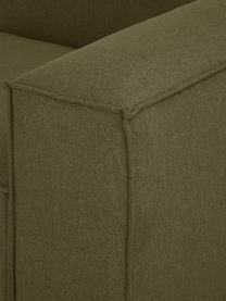 Divano angolare componibile in tessuto verde Lennon, Rivestimento: 100% poliestere Con 115.0, Struttura: legno di pino massiccio, , Piedini: plastica I piedini si tro, Tessuto verde, Larg. 327 x Prof. 180 cm