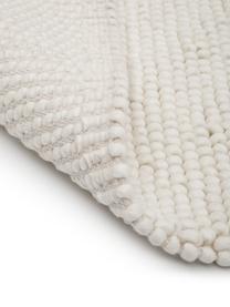 Tapis en laine blanc crème Pebble, Blanc
