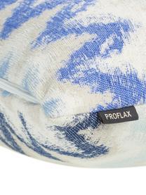 Kissenhülle Pari mit Zickzack-Muster, 100% Polyester, Hellbeige, Blautöne, 45 x 45 cm