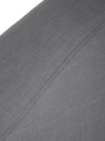 Letto boxspring premium in tessuto grigio scuro Dahlia, Materasso: nucleo a 5 zone di molle , Piedini: legno massiccio di betull, Grigio scuro, 140 x 200 cm