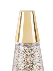Retro-Tischlampe Glitter in Gold, Goldfarben, Ø 10 x H 37 cm