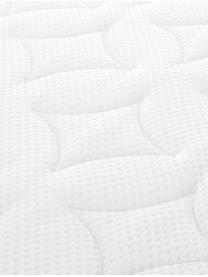 Premium Boxspringbett Lacey, Matratze: 7-Zonen-Taschenfederkern , Füße: Massives Buchenholz, lack, Beige, 160 x 200 cm