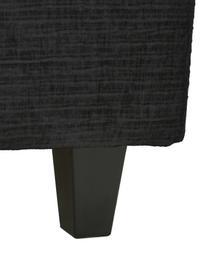 Łóżko kontynentalne premium ze sztruksu Eliza, Nogi: lite drewno brzozowe, lak, Sztruksowy ciemny szary, S 200 x D 200 cm