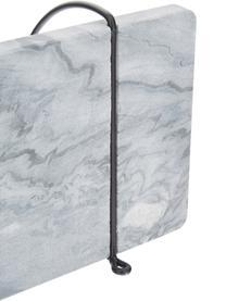 Étagère murale en marbre Porter, Support mural: noir Tablette: gris, marbré
