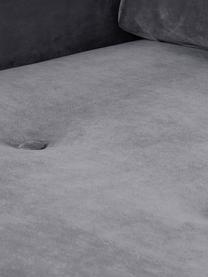 Divano angolare 3 posti in velluto grigio Saint, Rivestimento: velluto (poliestere) 35.0, Velluto grigio, Larg. 243 x Alt. 220 cm
