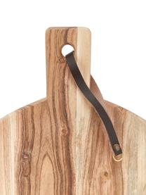 Tagliere in legno di acacia con cinturino in pelle Acacia, Legno di acacia, Ø 33 cm