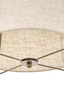 Lampa wisząca z lnu Clouds, Taupe, Ø 40 cm x W 40 cm