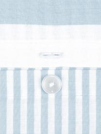 Parure copripiumino reversibile in cotone ranforce Lorena, Azzurro, 155 x 200 cm