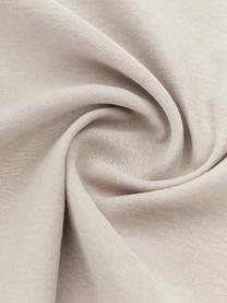 Leinen-Bettwäsche Nature in Beige, Halbleinen (52% Leinen, 48% Baumwolle)  Fadendichte 108 TC, Standard Qualität  Halbleinen hat von Natur aus einen kernigen Griff und einen natürlichen Knitterlook, der durch den Stonewash-Effekt verstärkt wird. Es absorbiert bis zu 35% Luftfeuchtigkeit, trocknet sehr schnell und wirkt in Sommernächten angenehm kühlend. Die hohe Reißfestigkeit macht Halbleinen scheuerfest und strapazierfähig, Beige, 240 x 220 cm + 2 Kissen 80 x 80 cm
