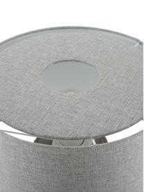 Lampe à poser en textile Ron, Abat-jour: beige Pied de lampe: beige Câble: noir
