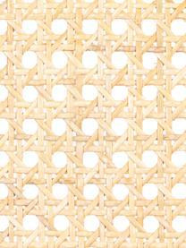 Polsterstuhl Spike mit Wiener Geflecht, Bezug: 100% Polyester Der strapa, Rückenlehne: Rattan, Rahmen: Birkenholz, massiv, lacki, Beine: Stahl, pulverbeschichtet, Grau, Schwarz, Beige, B 46 x T 58 cm