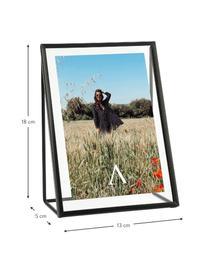 Bilderrahmen Memi, Metall, beschichtet, Schwarz, 16 x 21 cm