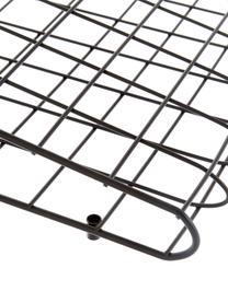 Große Gitter-Pinnwand Mesh in Schwarz, Stahl, lackiert, Schwarz, 51 x 72 cm