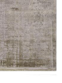 Schimmernder Teppich Cordoba in Beigetönen mit Fransen, Vintage Style, Flor: 70% Acryl, 30% Viskose, Beigetöne, B 240 x L 340 cm (Größe XL)