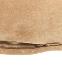 Poszewka na poduszkę z aksamitu Dana, 100% aksamit bawełniany, Brązowy, S 40 x D 40 cm