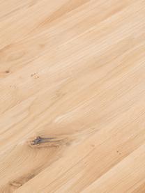 Table avec plateau en bois massif Oliver, Plateau: chêne sauvage Pieds: blanc