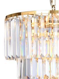 Lampadario in vetro Gracja, Paralume: vetro, Struttura: metallo, Baldacchino: metallo, Dorato, trasparente, Ø 39 x Alt. 42 cm