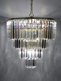 Lampadario a soffitto in vetro e metallo Gracja, Paralume: vetro, Struttura: metallo, Baldacchino: metallo, Dorato, trasparente, Ø 39 x Alt. 42 cm