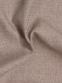 Ottomane Fluente in Taupe mit Metall-Füßen, Bezug: 100% Polyester Der hochwe, Gestell: Massives Kiefernholz, Füße: Metall, pulverbeschichtet, Webstoff Taupe, B 202 x T 85 cm