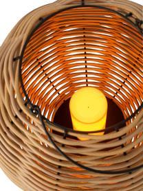 Latarenka ze świecą LED Wovo, Brązowy, Ø 32 x W 48 cm