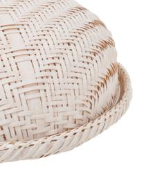 Cloche in bambù fatta a mano Bambi, Bambù rivestito, Bianco, Ø 35 x Alt. 13 cm